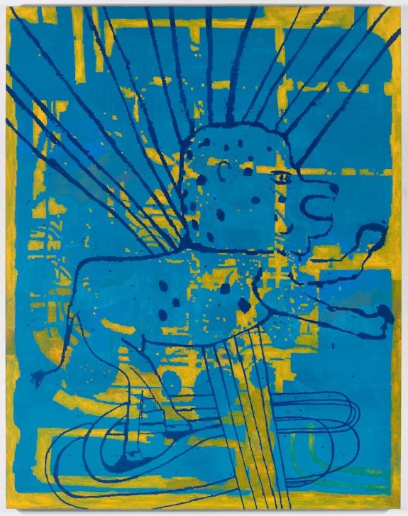 EJ Hauser, <em>Big Voyager</em>, 2020–21 oil on canvas, 70 x 55 inches. Courtesy the artist and Derek Eller Gallery, New York.