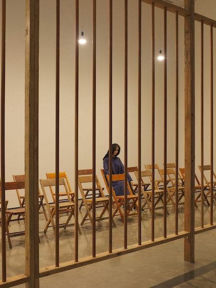 Installation view: <em>Kate Millett: Terminal Piece</em>, Hessel Museum of Art, Center for Curatorial Studies, Bard College, Annandale-on-Hudson, NY, 2021. Master's thesis exhibition curated by Jenni Crain. Photo: Olympia Shannon 2021.