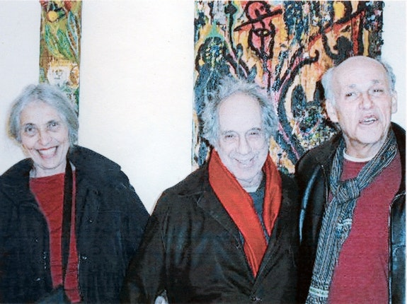 June Leaf, Robert Frank and Marty Greenbaum for his show at Pacifico Fine Art, 2001. Photo: James Pernotto.