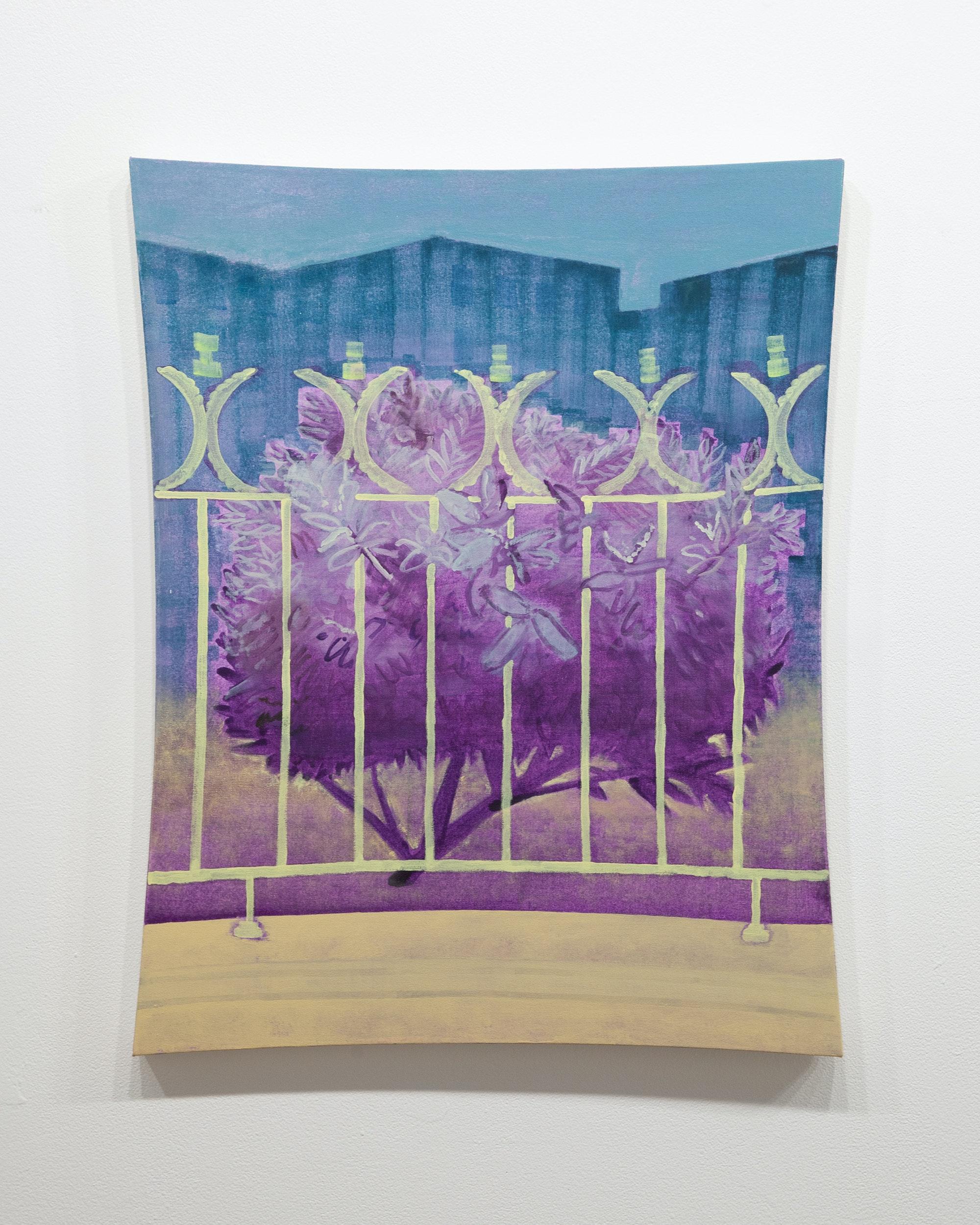 Masamitsu Shigeta, <em>A night</em>, 2021. Acrylic on canvas, 30 x 24 inches. Courtesy SITUATIONS Gallery.