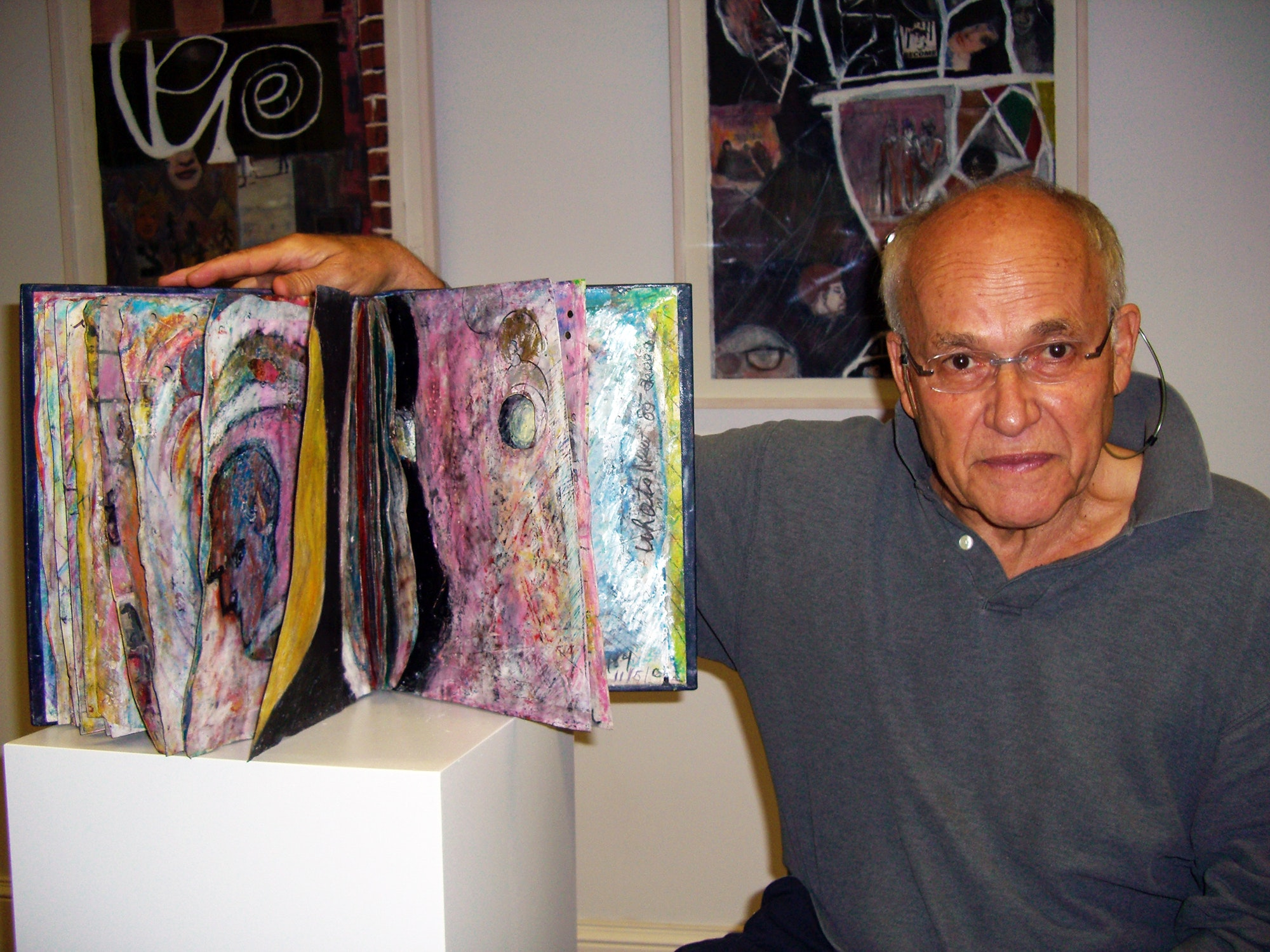 Marty at his exhibition at Windsor Whip Works Art Center in Windsor, NY, 2007. Photo: Eileen Mislove.