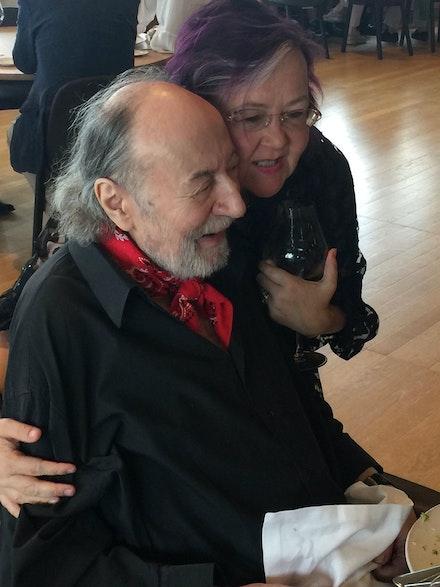 Aldo with Wendy Payne, Director of Development, Aldo Tambellini Art Foundation.