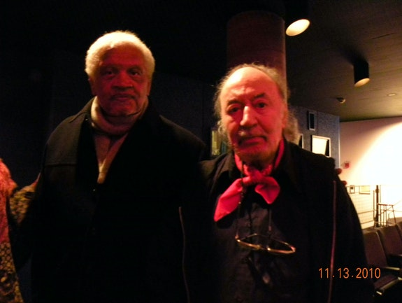 Ishmael Reed and Aldo Tambellini at the Carpenter Center for Visual Arts on November 13, 2010. Photo by Tennessee Reed