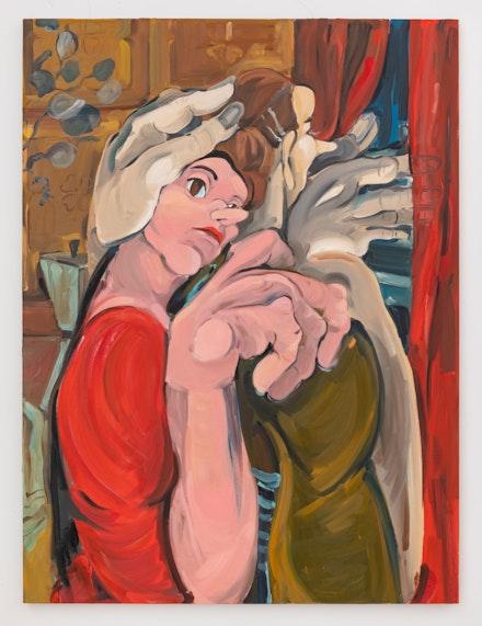 Cristina BanBan, <em>La pena de Pilar</em>, 2020. Oil on canvas. Courtesy the artist and 1969 Gallery.