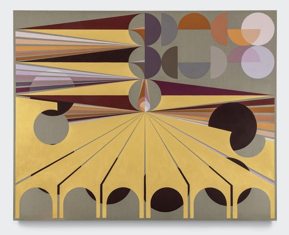 Eamon Ore-Girón, <em>Infinite Regress CLV</em>, 2021. Mineral paint and flashe on linen, 96 x 120 inches. © Eamon Ore-Girón 2021. Courtesy the artist and James Cohan, New York. Photo: Phoebe d'Heurle.