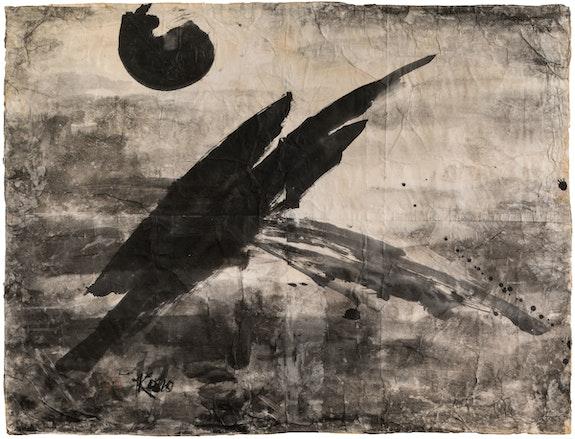 Koho Yamamoto, Untitled, c. 1987. Ink on paper. 34 1⁄8 x 44 1⁄4 inches. Collection of the artist. Photo: Nicholas Knight. © Masako 'Koho' Yamamoto / The Noguchi Museum / ARS.