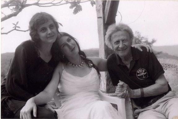 Aurélia, Camille, and Marcel Marceau, 2001. Photo: courtesy Camille Marceau.