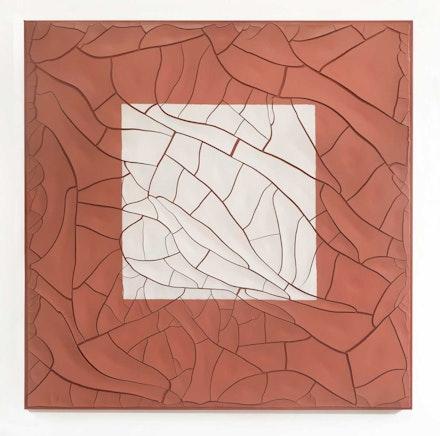 Adriana Varejão, <em>Cuadrado Blanco [White Square]</em>, 2020. Oil and plaster on canvas, 70 7/8 x 70 7/8 x 1 5/8 inches. © Adriana Varejão. Photo: Vicente de Mello. Courtesy the artist and Gagosian.