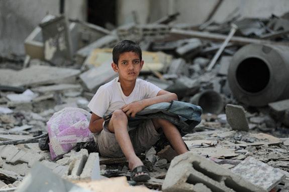 Boy on Gaza Strip. Photo: Hosny Salah.