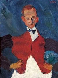 Chaïm Soutine, <em>The Room Service Waiter</em>, c. 1927. Oil on canvas, 34 1/4 x 26 inches. Musée de l'Orangerie, Paris.