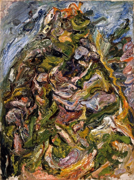 Chaïm Soutine, <em>Hill at Céret</em>, c. 1921. Oil on canvas, 291/4 × 21 5/8 inches. Los Angeles County Museum of Art. © 2021 Artist Rights Society (ARS). New York. © 2020 Museum Associates / LACMA. Licensed by Art Resource, New York.