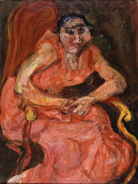 Chaïm Soutine, <em>Woman in Pink</em>, c. 1924. Oil on canvas, 28 3/4 x 21 3/8 inches. Saint Louis Art Museum. Given by Sam J. Levin and Audrey L. Levin, 1992. © 2021 Artist Rights Society (ARS), New York. © Bridgeman Images.