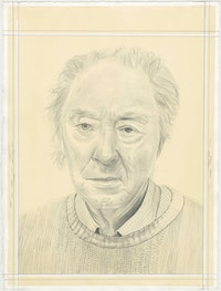 Portrait of Michael Snow, pencil on paper by Phong H. Bui.