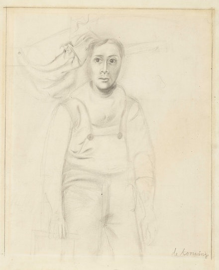 Willem de Kooning, <em>Working Man</em>, c. 1938. Graphite on paper, 13 1/8 x 10 3/4 inches. © 2021 The Willem de Kooning Foundation / Artists Rights Society (ARS), New York. Courtesy Craig F. Starr Gallery.