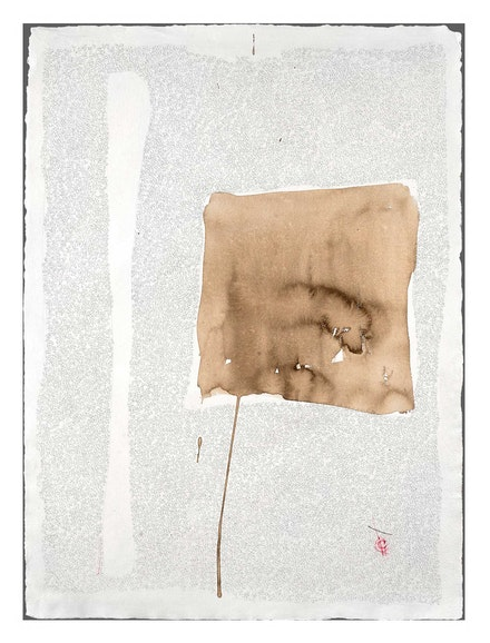 Catalina Chervin, <em>Untitled I (Series of Blots)</em>, 2018. Charcoal, pencil, and walnut ink on Khadi Papers, 30 x 24 inches. Courtesy Hutchinson Modern & Contemporary.