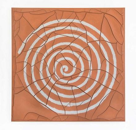 Adriana Varejão, <em>Espiral, [Spiral]</em>, 2020. Oil and plaster on canvas, 70 7/8 x 70 7/8 x 1 5/8 inches. © Adriana Varejão. Photo: Vicente de Mello. Courtesy the artist and Gagosian.