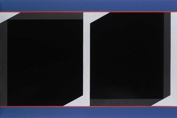 Don Voisine, <em>Mirror/Mirror</em>, 2020. Oil on wood panel, 53 x 80 inches. Courtesy McKenzie Fine Art.