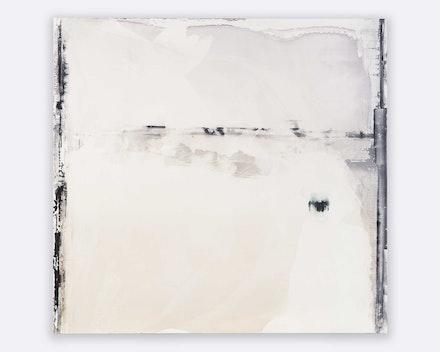 Kate McQuillen, <em>Amnesia Vu</em>, 2021. Acrylic on panel, 51 x 48 x 1 1/2 inches. Courtesy Massey Klein Gallery.