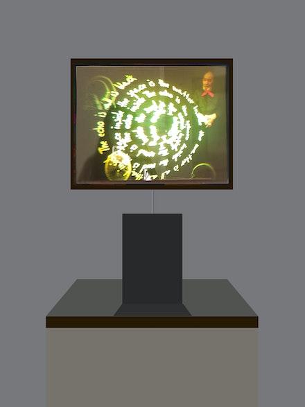 Aldo Tambellini's hologram <em>Inside</em>.