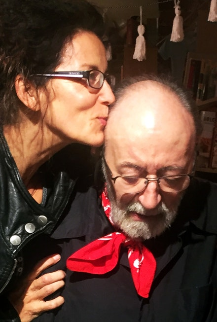Heide Hatry and Aldo Tambellini.