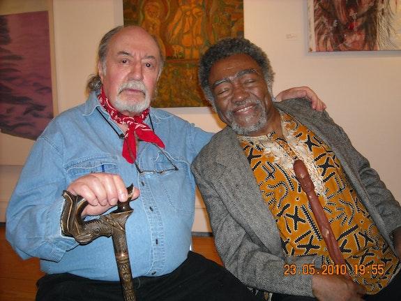Aldo and Askia. Photo: Elliot at Pierre Menard Gallery.