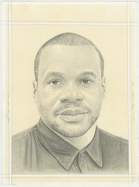 Portrait of Noel Anderson, pencil on paper by Phong H. Bui.