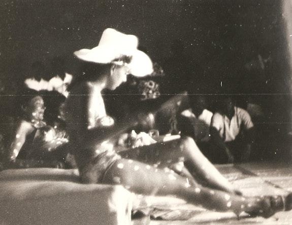 Kusama's<em>Self-Obliteration</em>, 1967 at the Black Gate Theater in the East Village. Courtesy Anna Salamone.