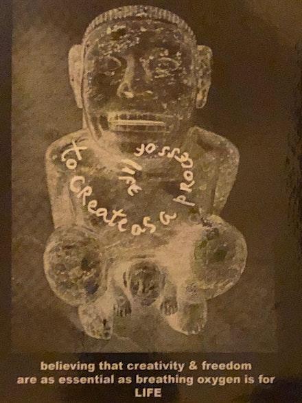 An art gift from Aldo.