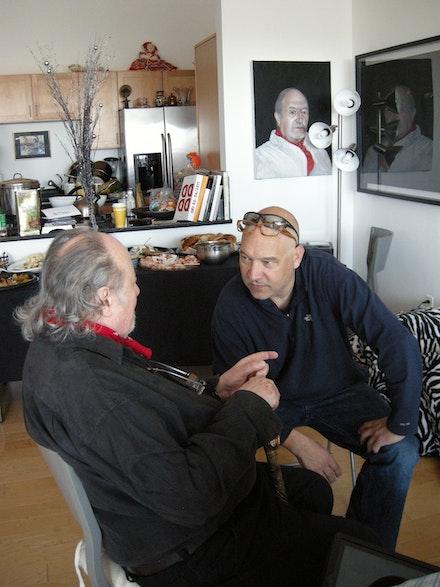 John Wronoski and Aldo Tambellini in Salem, MA, c. 2010.