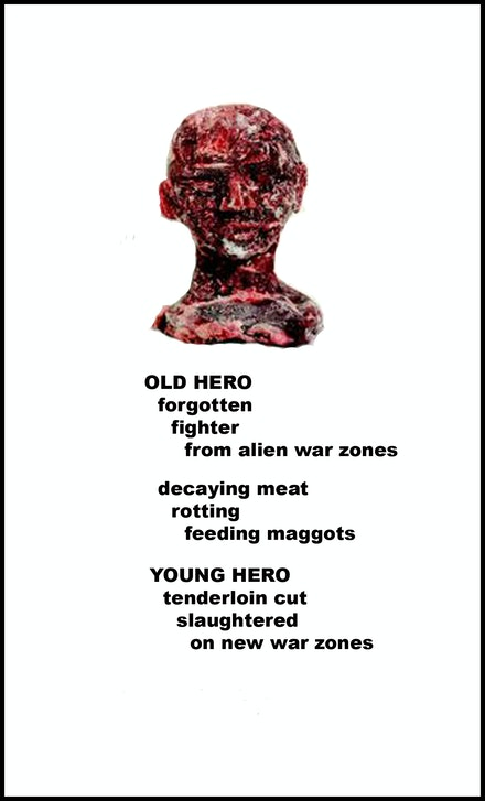 Aldo Tambellini and Heide Hatry, <em>Old War Hero</em>, 2017.