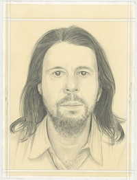 Portrait of Rodrigo Moura, pencil on paper by Phong H. Bui.