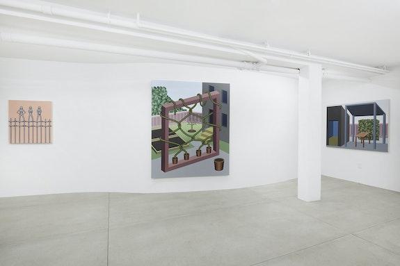Installation view: <em>Emily Ludwig Shaffer & Françoise Grossen</em>, L'INCONNUE, New York, 2021. Courtesy L'INCONNUE.