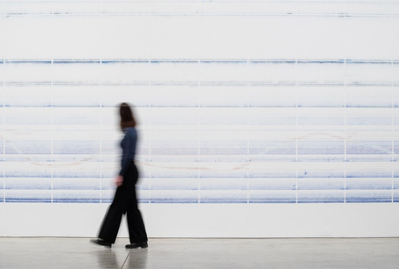 Tanya Goel, <em>Index</em>, 2015/2020. Neel pigment on wall, dimensions variable according to size of wall. Courtesy the artist and Galerie Mirchandani + Steinruecke and the Philadelphia Museum of Art. Photo: Joseph Hu, 2020.