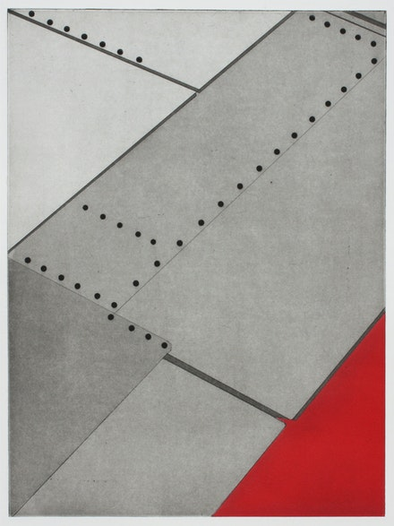 Nina Katchadourian, <em>Window Seat Suprematism 4</em>, 2013. Etching and aquatint, 19 1/2 x 15 inches. © Nina Katchadourian. Courtesy Pace Gallery.