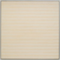 Agnes Martin, <em>Desert Flower</em>, 1985. Acrylic and pencil on linen, 72 1/8 x 72 1/8 inches. © Estate of Agnes Martin /Artists Rights Society (ARS), New York.