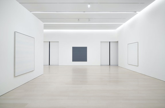 Installation view: <em>Agnes Martin: The Distillation of Color</em>, Pace Gallery, New York, 2021. Courtesy Pace Gallery.