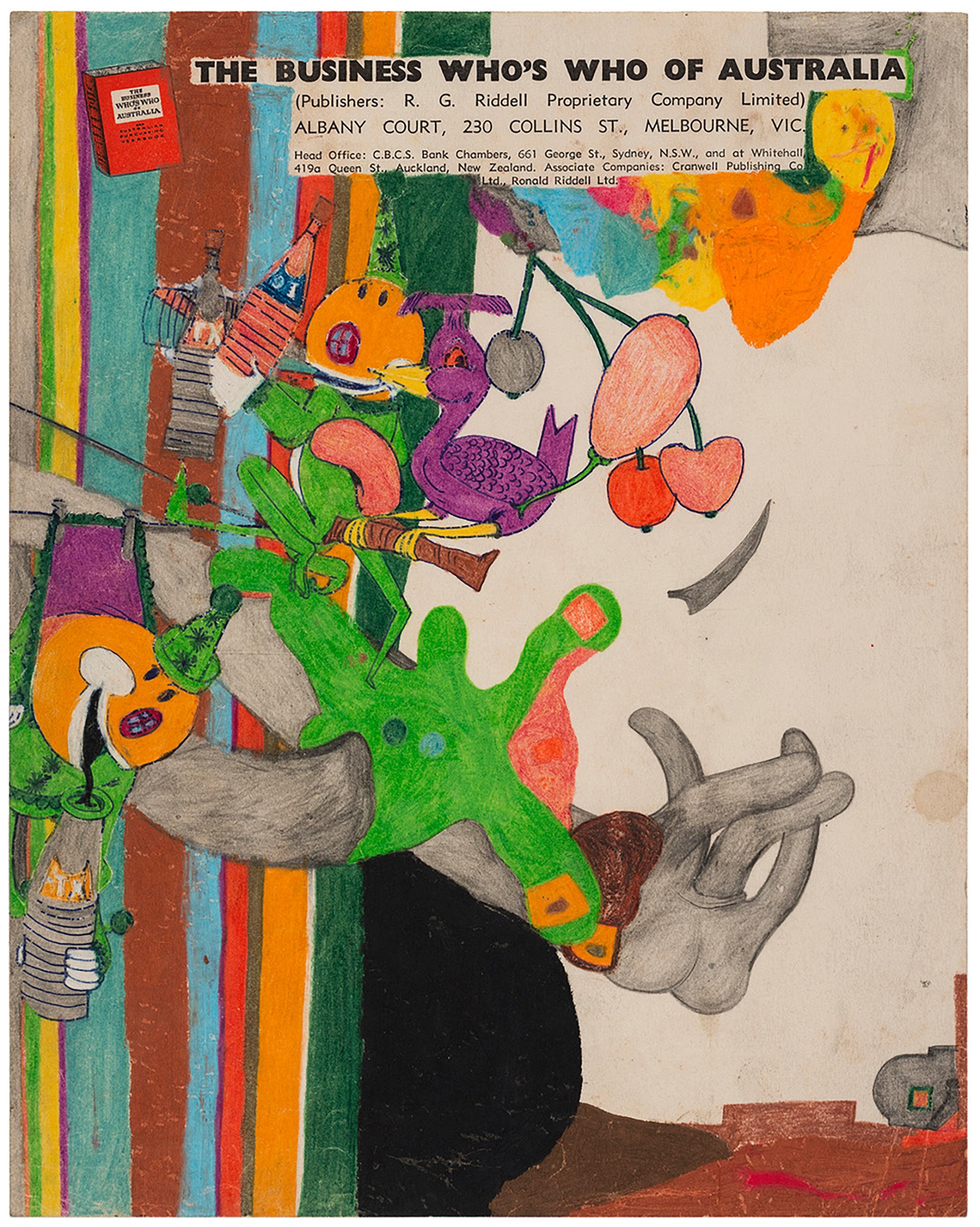 Susan Te Kahurangi King, <em>Untitled</em>, ca. 1967–70. Crayon, ink, colored pencil and graphite on paper, 10.25 x 8.25 inches. Courtesy Andrew Edlin Gallery, New York.