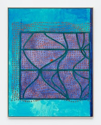 Terry Winters, <em>Index 1</em>, 2021. Oil, wax, and resin on linen, 88 x 68 inches. © Terry Winters, Courtesy Matthew Marks Gallery.