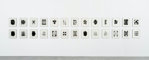 Terry Winters, <em>Table of Contents</em>, 2020. Graphite, ink, and wax on paper, 26 sheets, 11 x 9 inches each. © Terry Winters, Courtesy Matthew Marks Gallery.