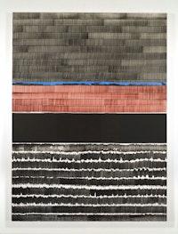 Juan Uslé, <em>Soñé que revelabas (Bravo)</em>, 2020. Vinyl dispersion and dry pigment on canvas 120 x 89 3/4 inches. © Juan Uslé. Courtesy Galerie Lelong & Co.