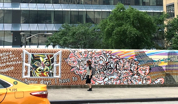 Mural formerly on view on West 34th Street. Courtesy Fountain House Gallery.
