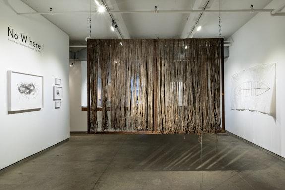 Installation view: <em>No W here: Alice Hope, Bastienne Schmidt, Toni Ross</em>, Ricco/Maresca, New York, 2021. Courtesy Ricco/Maresca. Photo: Jenny Gorman.