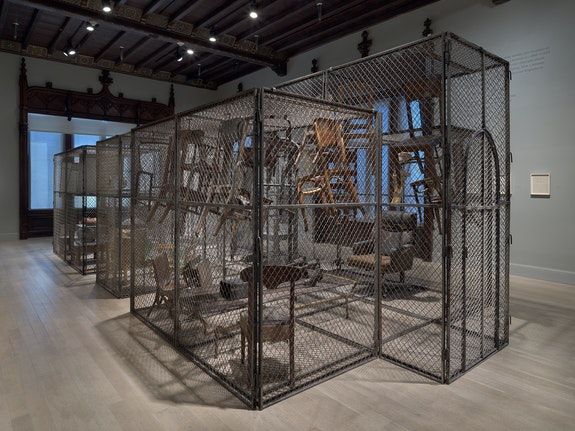 Installation view: <em>Louise Bourgeois: Freud's Daughter</em>, The Jewish Museum, New York, 2021. © The Easton Foundation/Licensed by VAGA at Artists Rights Society (ARS), NY. Collection Glenstone Museum, Potomac, MD. Photo: Ron Amstutz.