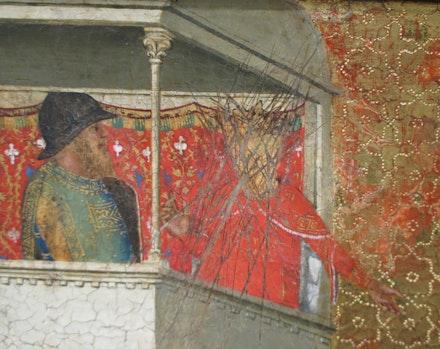 Bernardo Daddi, <em>St. Reparata Tortured with Red-hot Irons</em> (detail)