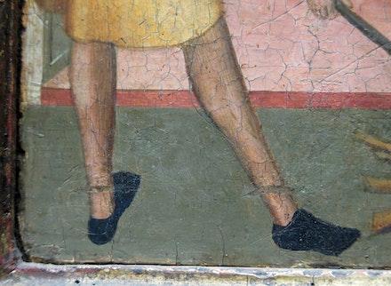Bernardo Daddi, <em>St. Reparata Tortured with Red-hot Irons </em>(detail)