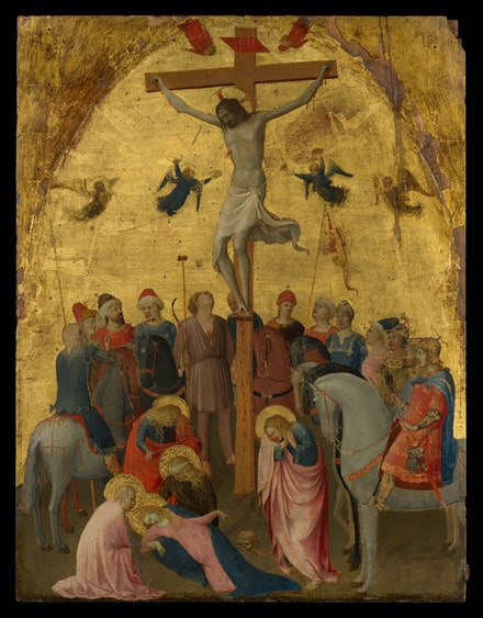 Fra Angelico, <em>Crucifixion</em>, c. 1420-1423. Tempera and gold on panel. Metropolitan Museum, New York.