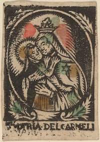 Spain (anonymous), <em>Madonna and Child</em>, c. middle of 18th century. Woodcut. National Gallery of Art, Washington D.C.