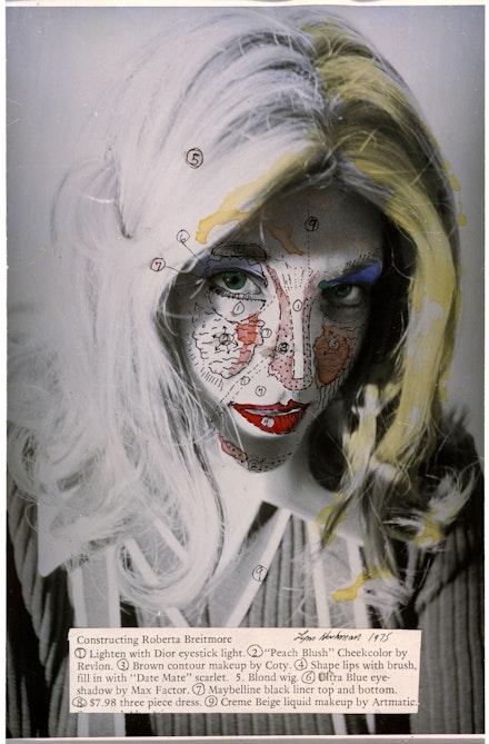 Lynn Hershman Leeson, <em>Roberta's Construction Chart 1</em>, 1975. Archival digital print and dye transfer, 35 5/8 x 23 5/8 in (90.5 x 60 cm). Courtesy the artist; Bridget Donahue Gallery, New York; and Altman Siegel, San Francisco.
