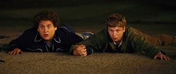 <i>Superbad</i>'s Jonah Hill and Michael Cera. Photo courtesy of Columbia Pictures.