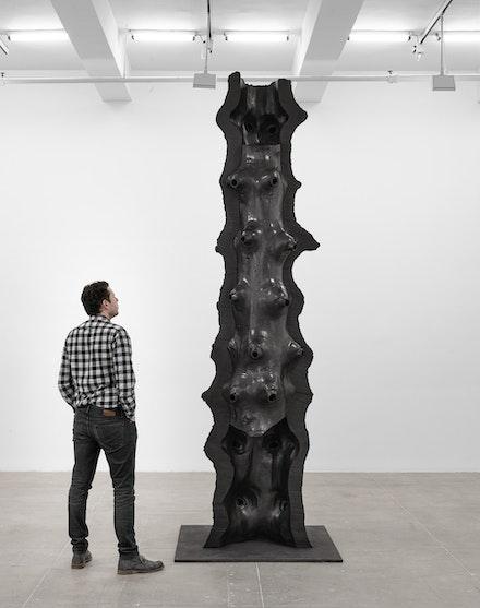 Giuseppe Penone, <em>Artemide</em>, 2019. Bronze, 135 1/8 x 43 3/4 x 40 1/2 inches. Courtesy Marian Goodman Gallery.